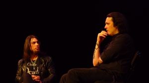 Dave Navarro interviewing author Damien Echols
